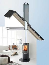 Trekken skapes ved at varm luft er lettere enn kald luft. Så lenge luften inne i skorsteinen er varmere enn luften utendørs, vil det være trekk i den.