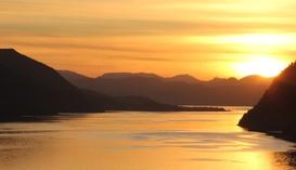 Oktoberkveld over Snillfjord