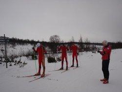 Aksel, Vebjørn og Jonas på startstreken