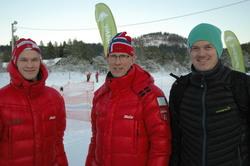 Speakerteamet etter vel utført jobb; Jo, Ola T og Pål.