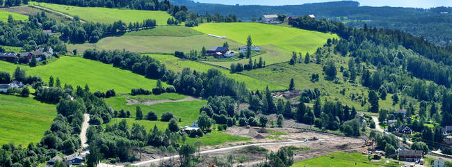 Tomteområdet på Lille Almerud.