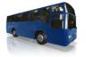 blå buss