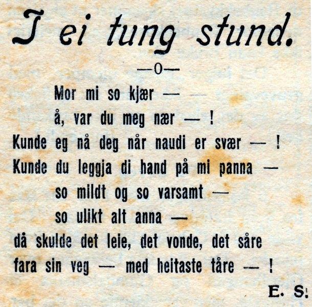 morsdag dikt