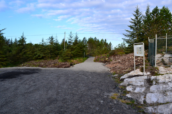 Inngang til løypa mot brørevatna på vegen mot Stormark