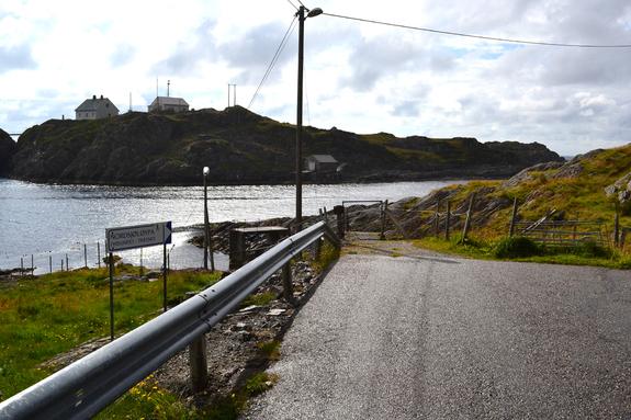 Inngang til Nordsjøløypa i Fyrsundet