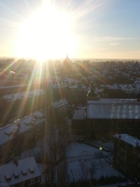 Sunrise,Christmas,Gdansk,Poland