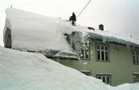 snømåking på taket
