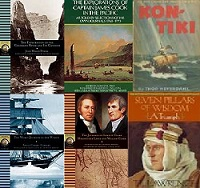 Images of books from great explorers