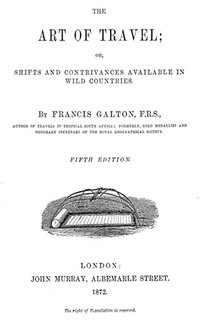 The Art of Travel - Francis Galton