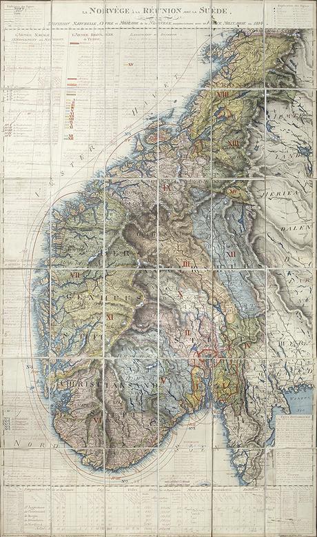 La Norvège à la Réunion avec la Suède, ou Division Naturelle, Civilie et Militaire de la Norvège, conjoinctement avec sa Force Militaire en 1814.