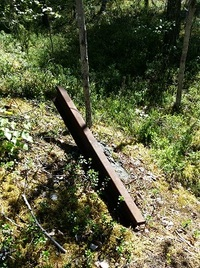 Piece of the old railway from Korvua camp, Finland