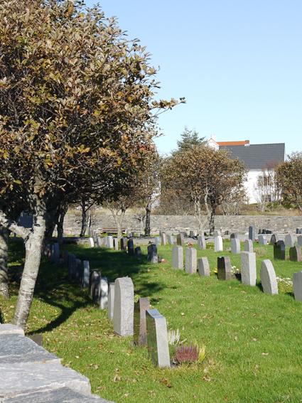 Haustbilete av gravplassen