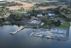 Flyfoto over Kapp Melkefabrikk