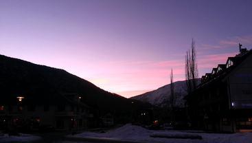 Lilla himmel ein februarmorgon 2015