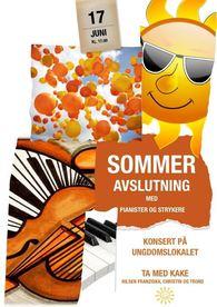 Plakat sommeravslutning pianister og strykere