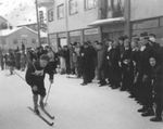 Rådhusplassrennet i 1953, Kåre Karlsen fra IL Stein. Bilde: Stein's veterangruppe.