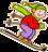 gutt animert ski