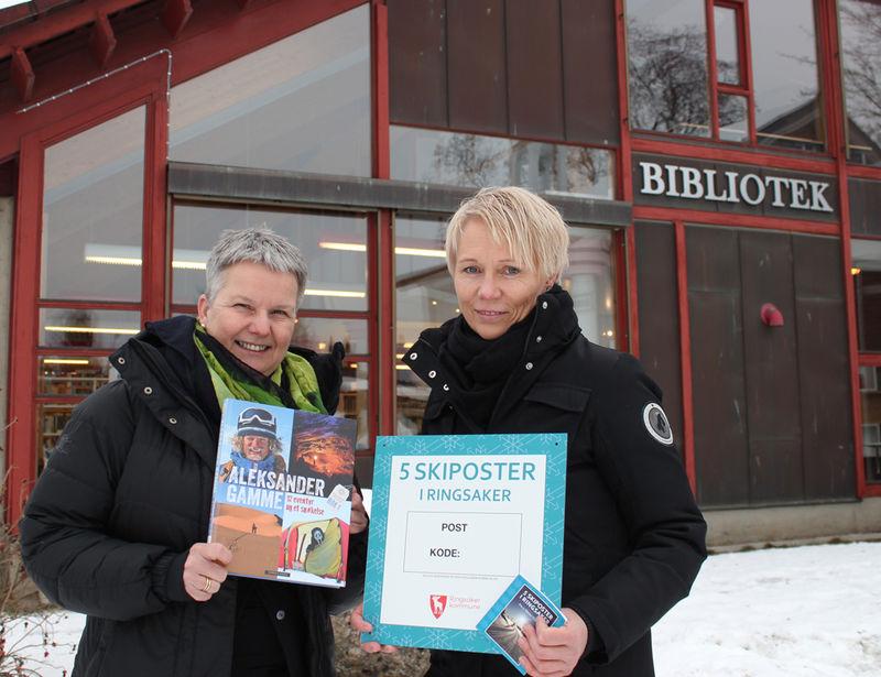 Fra venstre: Biblioteksjef Mette Westgaard og folkehelsekoordinator Wenche Enge