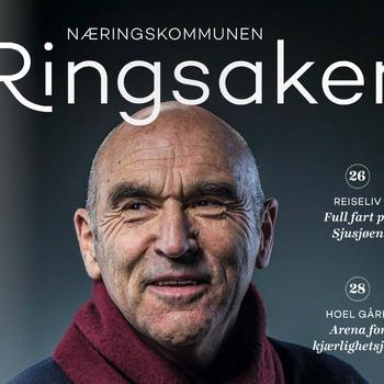 Forsiden på magasinet «Næringskommunen Ringsaker».