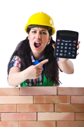 Concept of expensive construction work