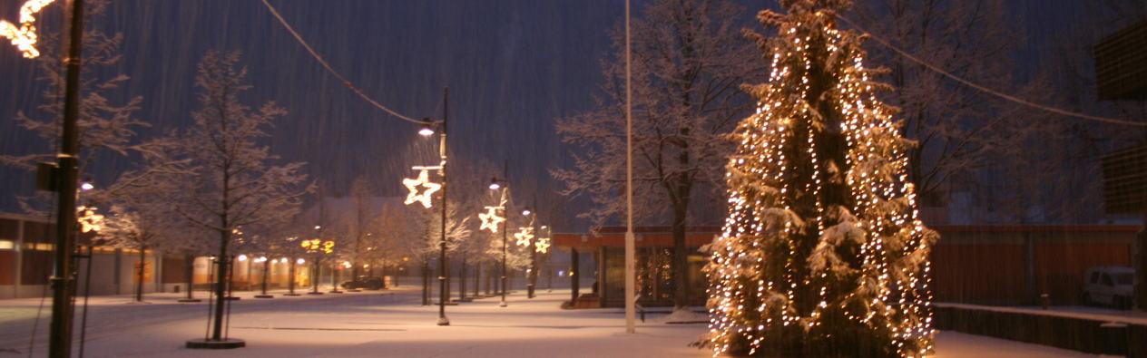 Juletre på rådhusplassen