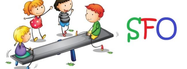 Illustrasjon av lekende barn