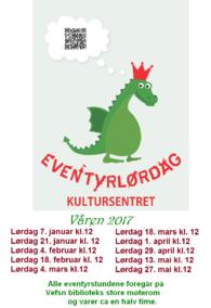 Plakat eventyrlørdag våren 2017