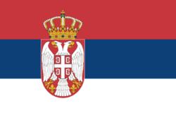 Serbisk flagg