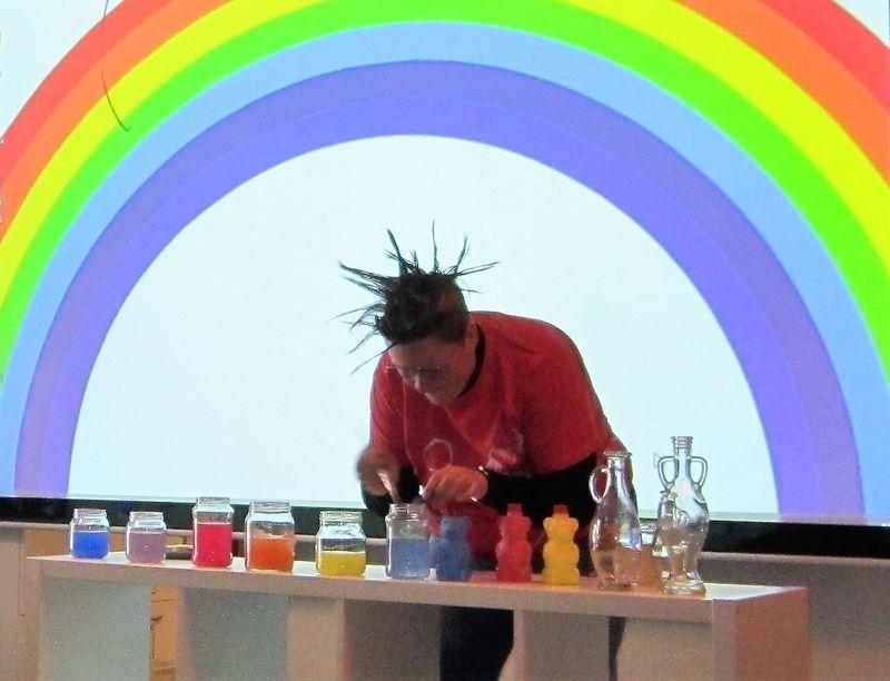 Fargefest med regnbue