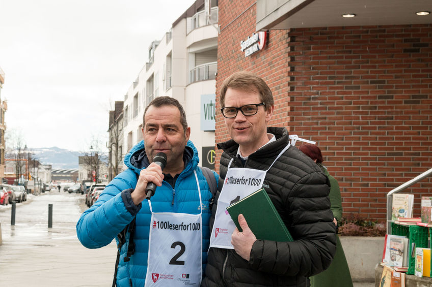 Kultursjef Asle Berteig og varaordførerGeir Roger Borgedal