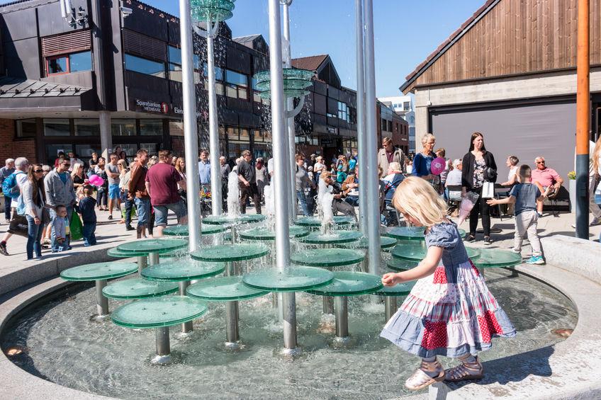 Endelig vann i fontenen!