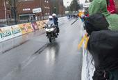 Syklister som kommer til mål