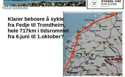 Bilde av logo for sykkel-VM for eldre på Fedje