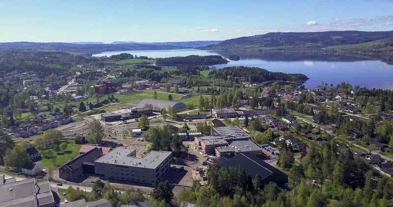 Flyfoto fra Moelv