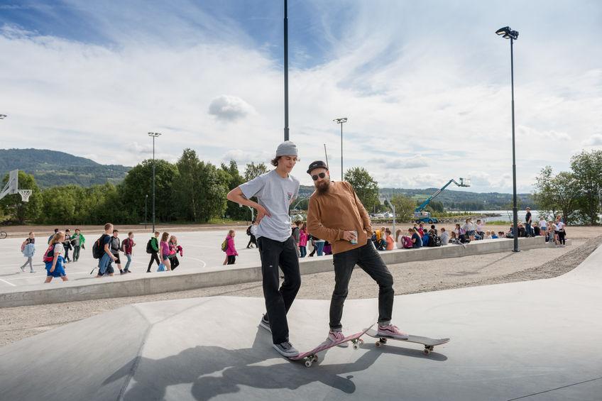 Skatere i parken