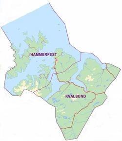 Hammerfest og Kvalsund kommunegrense
