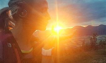 190817 @vigdisrod Nydelig solnedgang på løpeturen min i kveld