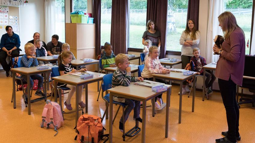 1. klasse på Åsen skole.