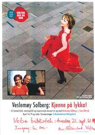 Kjenne på lykka Veslemøy Solberg