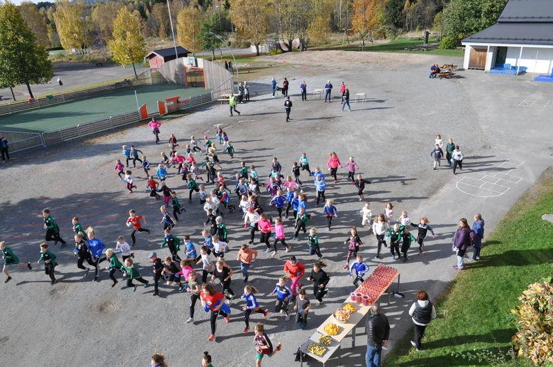 Fellesstart på Unicefrunden på Kylstad skole