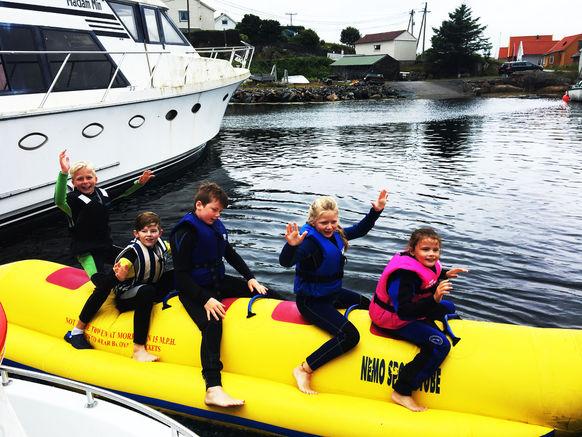 barn på bananbåt
