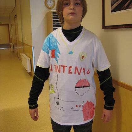 T-skjorte med eget trykk