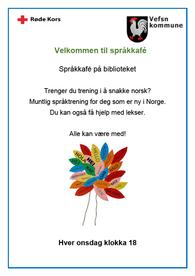 plakat språkkafe onsdager kl 18