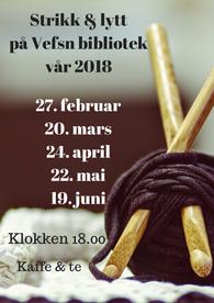 strikk & lytt-plakat med rettelse 20. mars