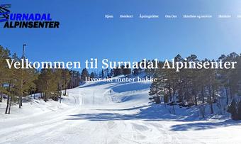 Skjermdump nettside Surnadal Alpinsenter