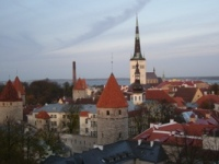 Tallin,Estonia,Sant Olav Church,harbour