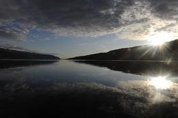 Surnadalsfjorden i vårleg solnedgang. (Trykk på bildet for større versjon) Foto: Bjørn Tore