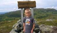 Jøran Heggem på toppen av Stokkfjellet. August 2007. (Foto: Torleiv Heggem)