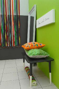 Et rom med høyt aktivitetsnivå tåler sterke farger.