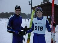 vinnerne av Rindalsrennet 2003, Stein Vider Thun (senior) og Lars Hol Moholdt (junior).